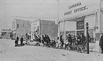 Tanana, Alaska - Arrival of the mail, 1920