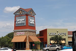 Tanger Factory Outlet Centers - Tanger Outlets tower in San Marcos, Texas