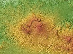 Tangkuban Perahu - Relief Map