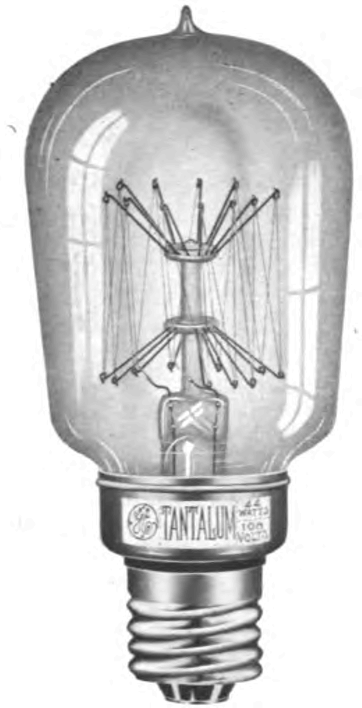 Tantalum light bulb