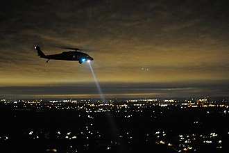 Searchlight - Military helicopter with searchlight