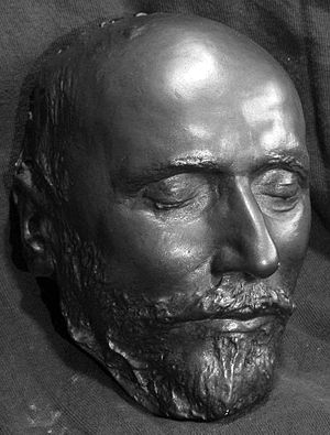 English: Tchaikovsky death mask from the autho...