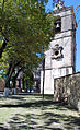 Templo y Ex Convento de San Francisco de la Asunción de Nuestra Señora, Tlaxcala, Tlax. México. (Torre exenta detalle 1).jpg