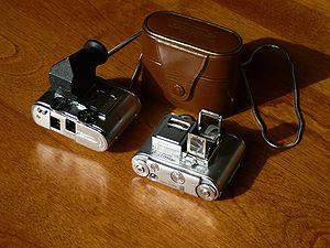 Subminiature photography - Tessina twin lens reflex subminiature camera
