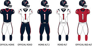 Houston Texans - Image: Texans Uniforms
