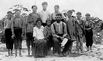 "White trash - This poor white family from Alabama was presented in 1913 as ""celebrities"" because they had escaped the debilitating effects of hookworm disease, which, along with pellagra was endemic among Southern ""white trash"" due to poor sanitation and the phenomenon of ""clay eating"" (geophagia)."