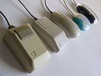Apple Mouse - Five different Apple mice