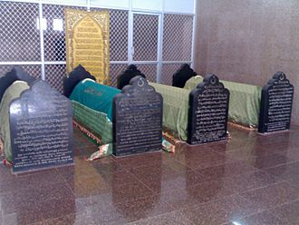 Thaika Ahmad Abdul Qadir - Shaikh Ahmad Abdul Qadir's tomb (2nd from right) at the Arusiyya Tekke