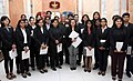 The Chief of Army Staff, General Bipin Rawat with the students and teachers from Govt. Law College, Mumbai, in New Delhi on March 06, 2018.jpg