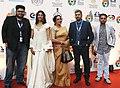 The Director Pratim Dasgupta, Producer Tushar Shah, Actress Paoli Dam, Actress Mamata Shankar cast & crew of the film MAACHER JHOL, at the Red Carpet, during the 48th International Film Festival of India (IFFI-2017).jpg