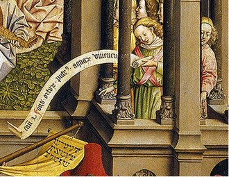 The Fountain of Life (painting) - Detail showing musical angels