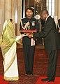 The High Commissioner-designate of Namibia, Dr. Samuel Kaveto Mbambo presented his Credentials to the President, Smt. Pratibha Devisingh Patil, at Rashtrapati Bhavan, in New Delhi on December 08, 2010.jpg