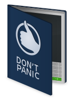 The Hitchhiker's Guide to the Galaxy, english.svg