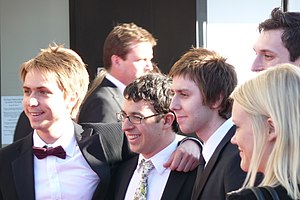 The Inbetweeners - The Inbetweeners cast in 2009. From left to right: Joe Thomas, Simon Bird, James Buckley and Blake Harrison