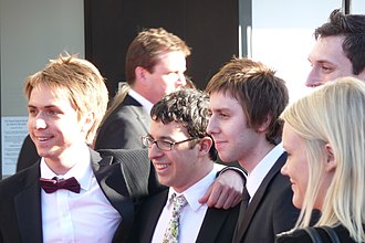 The Inbetweeners 2 - From left to right: Joe Thomas, Simon Bird, James Buckley and Blake Harrison
