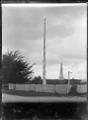 The Jubilee Pole, and the Te Rauparaha Monument, at Otaki ATLIB 273653.png
