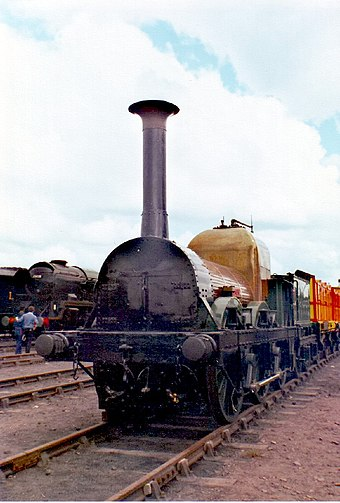 Lion (seen here in May 1980) masqueraded as Thunderbolt for the film The Titfield Thunderbolt The Lion.jpg