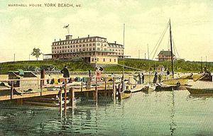York Harbor, Maine - The Marshall House in 1909