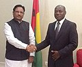 The Minister of State for Mines and Steel, Shri Vishnu Deo Sai meeting the President of the Republic of Guinea-Bissau, Mr. Jose Mario Vaz, at Bissau on September 16, 2015.jpg