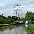 The Oxford Canal with a pylon, near Bedworth - geograph.org.uk - 1117692.jpg
