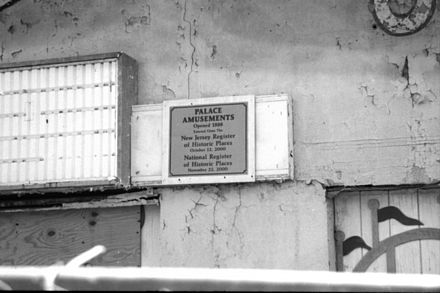 The plaque at the Palace Amusements in Asbury Park, NJ (demolished 2004) The Plaque at the Palace Amusements.jpg
