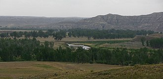 Powder River (Wyoming and Montana) - A view of the Powder River in northern Wyoming