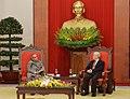 The President, Shri Pranab Mukherjee meeting the General Secretary of the Communist Party of the Socialist Republic of Vietnam, Mr. Nguyen Phu Trong, in Hanoi on September 15, 2014.jpg