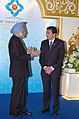 The Prime Minister, Dr. Manmohan Singh meeting the Prime Minister of Thailand, Mr. Abhisit Vejjajiva at the 4th East Asia Summit (EAS), in Hua Hin, Thailand on October 25, 2009.jpg