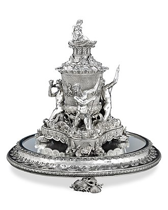 Rundell and Bridge - Silver ice pail from the Grand Service made by Rundell, Bridge, and Rundell for George IV. Hallmarked 1827