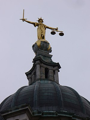 English: The Scales of Justice Gilded bronze f...
