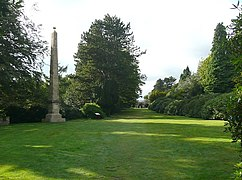 The Sun Monument and the walk to the 'castle', Wentworth Castle grounds, Stainborough - geograph.org.uk - 1501648.jpg