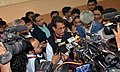 The Union Minister for Civil Aviation, Shri Ajit Singh interacting with the media after attending the PanIIT Global Conference 2012, in Kolkata on December 07, 2012.jpg