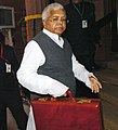 The Union Minister for Railways, Shri Lalu Prasad arriving at Parliament House to present the Interim Railway Budget for the year 2009-10, in New Delhi on February 13, 2009.jpg