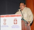 """The Union Minister for Tribal Affairs, Shri Jual Oram addressing at the inauguration of the National Workshop on """"Minimum Support Price (MSP) for Minor Forest Produces (MFP) scheme - Taking it to the next level"""", in New Delhi.jpg"""