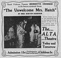 The Unwelcome Mrs Hatch 1914 newspaper ad.jpg