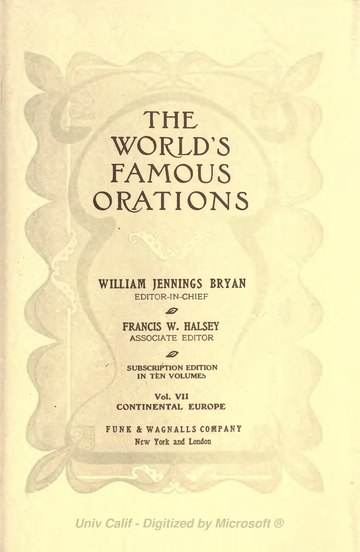 The World's Famous Orations Volume 7.djvu