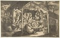 The adoration of the shepherds, various figures surrounding the Christ Child in the centre MET DP812435.jpg