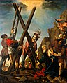 The crucifixion of Saint Andrew. Oil painting by Pierre Cast Wellcome V0017320.jpg