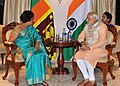 The former President of Sri Lanka, Mrs. Chandrika Kumaratunga meeting the Prime Minister, Shri Narendra Modi, in Colombo, Sri Lanka on March 13, 2015 (1).jpg