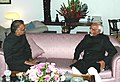 The newly appointed Governor of Punjab, Shri Shivraj Patil meeting the Vice President, Shri Mohd. Hamid Ansari, in New Delhi on January 19, 2010.jpg