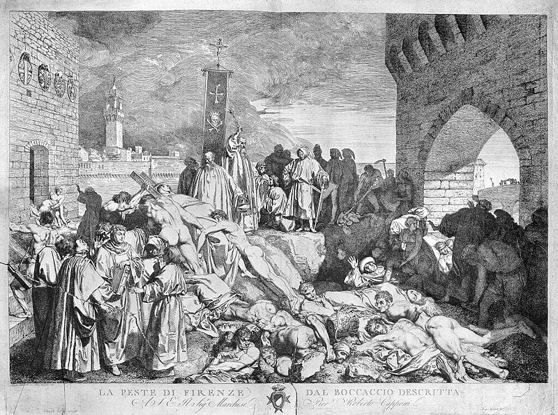 File:The plague of Florence in 1348, as described in Boccaccio's Wellcome L0004057.jpg
