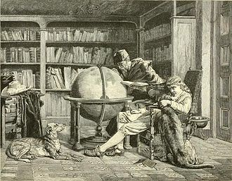 John Bagnold Burgess - The professor and his pupil (engraving after Burgess)