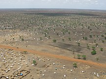 South Sudan-Refugees-The scale of the problem Jamam refugee camp from the air (6972523516)