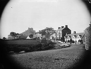The town and castle, Cricieth