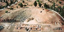 aerial view of the theater at Eretria