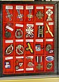 Third Reich Nazi Germany military civil decorations, insignia, badges, pins, Mother cross, etc (Norwegian descriptions) Lofoten Krigsminnemuseum (WW2 Memorial Museum) Svolvær, Norway 2019-05-08 DSC00144.jpg