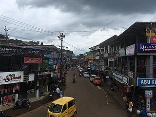 Thiruvambady Town in Kerala, India