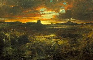Childe Roland to the Dark Tower Came - Childe Roland to the Dark Tower Came painted by Thomas Moran in 1859.