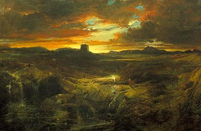 Childe Roland to the Dark Tower Came, painted by Thomas Moran in 1859