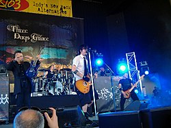 I Three Days Grace in concerto ad Indianapolis nel 2006